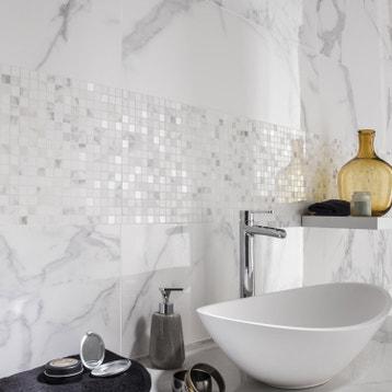 Salle De Bain Mur Blanc ~ fa ence mur blanc carrare murano l 30 5 x l 91 5 cm leroy merlin