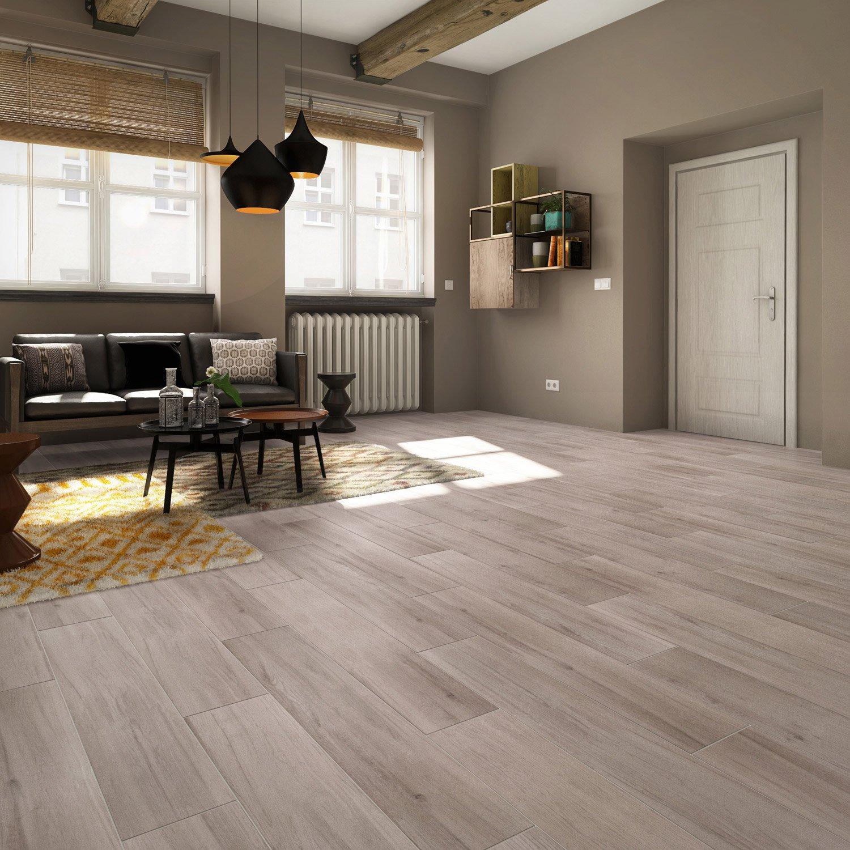 carrelage sol et mur gris effet bois terk x cm leroy merlin. Black Bedroom Furniture Sets. Home Design Ideas