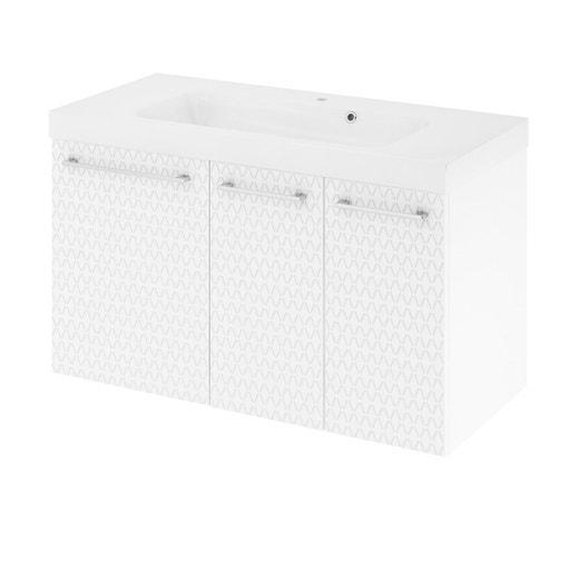 meuble de salle de bains remix blanc 3d simple vasque 3 portes leroy merlin. Black Bedroom Furniture Sets. Home Design Ideas