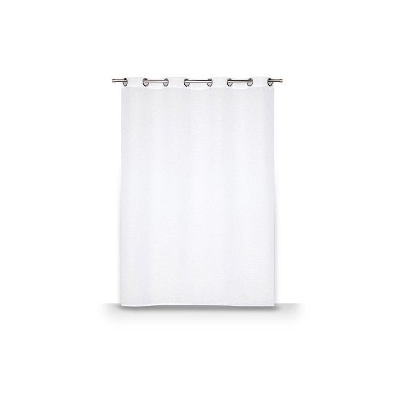 Voilage Transparent Petite Hauteur Léo Blanc L 140 X H 160 Cm