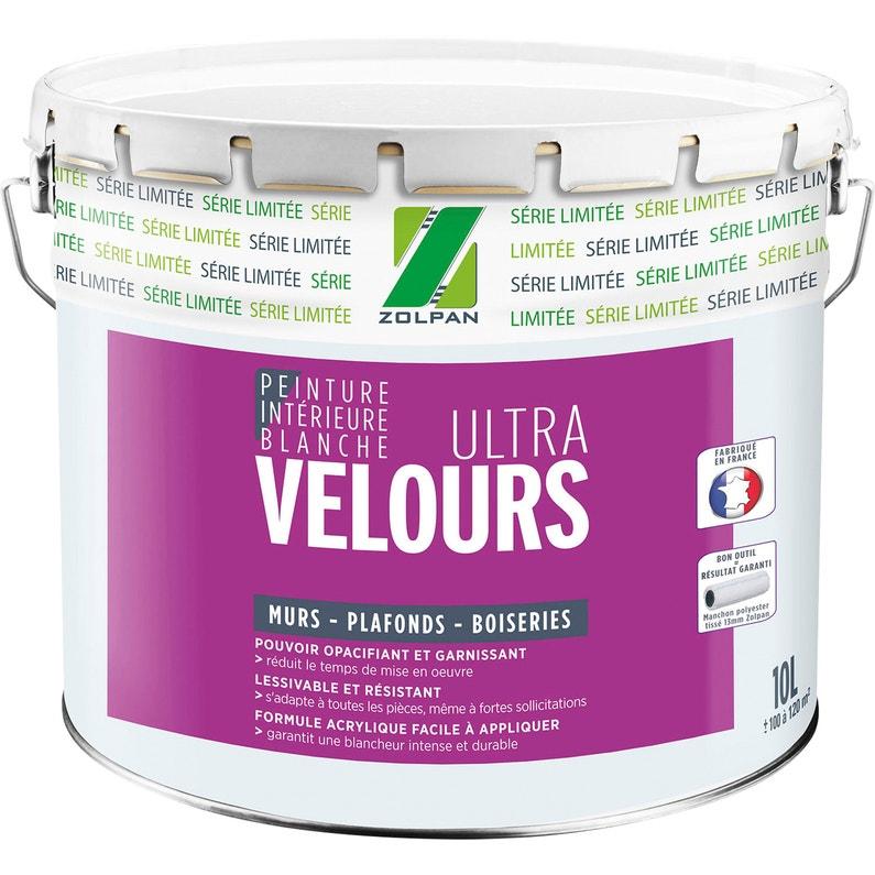Peinture Zolpan Mur Et Plafond Blanc Velours 10 L