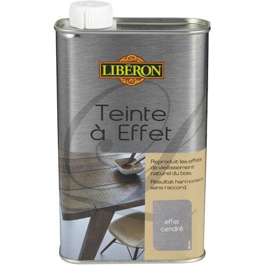 Teinte effet liberon 0 5 l effet cendr leroy merlin - Peinture effet blanchi ...
