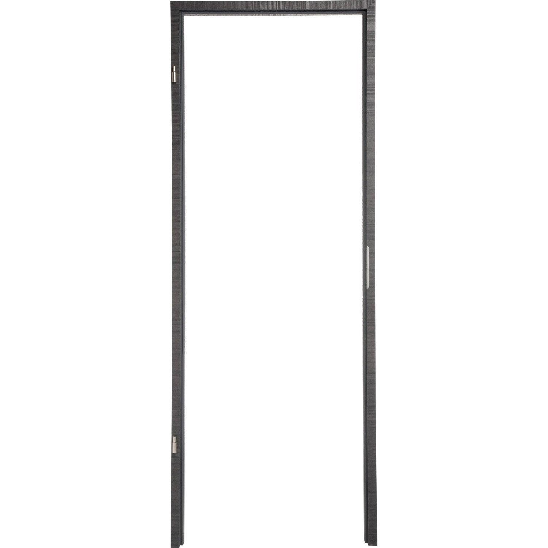 b ti pour porte londres 73 cm poussant droit d cor ch ne gris leroy merlin. Black Bedroom Furniture Sets. Home Design Ideas
