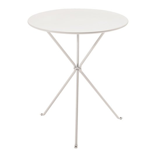 Table gu ridon ronde blanc 2 personnes leroy merlin for Table 30 personnes