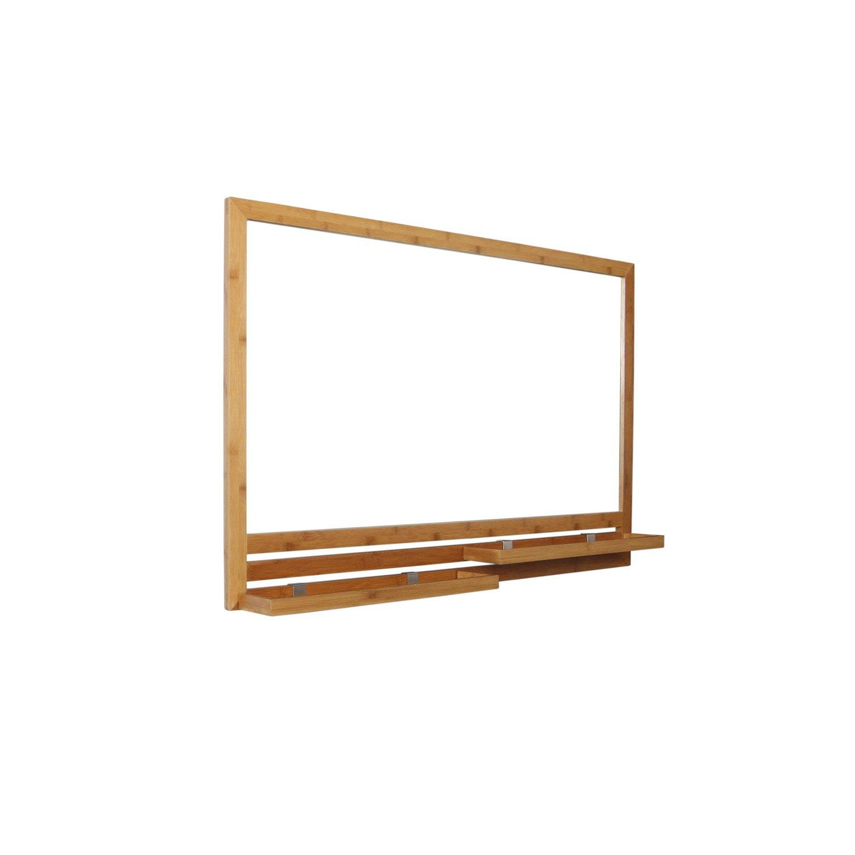 miroir avec tablette bambou l 93 0 cm natural leroy merlin. Black Bedroom Furniture Sets. Home Design Ideas