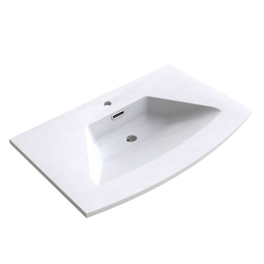 Plan Vasque 1 Robinet Resine 100 Cm : Plan vasque simple fairway résine de synthèse cm