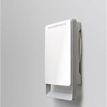 Radiateur soufflant salle de bain fixe électrique AURORA Touch gris 1800 W