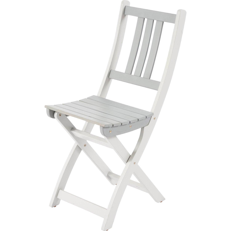 chaise de jardin en bois burano gris leroy merlin. Black Bedroom Furniture Sets. Home Design Ideas