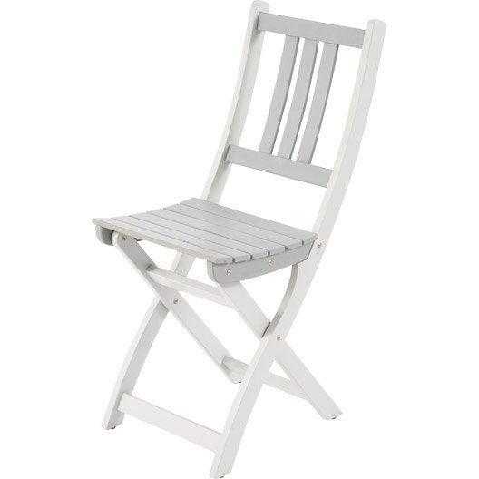 Chaise de jardin en bois burano gris leroy merlin - Chaise de jardin en bois ...