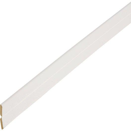 baguette d'angle médium (mdf) pliable et variable blanc, 23 x 23