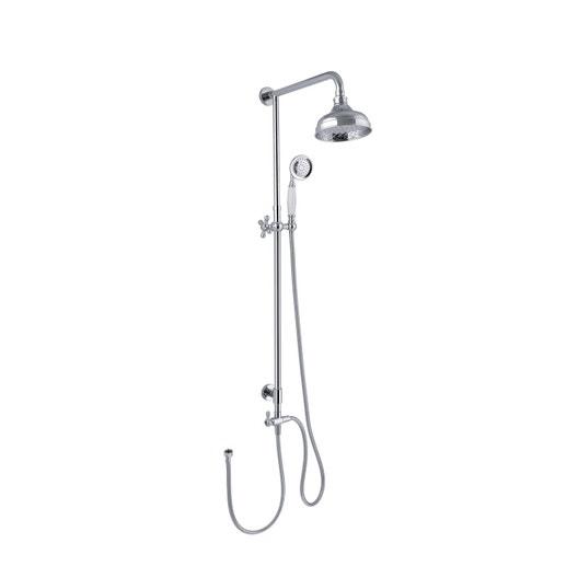 Colonne de douche sans robinetterie sensea retro leroy - Colonne de douche exterieur ...
