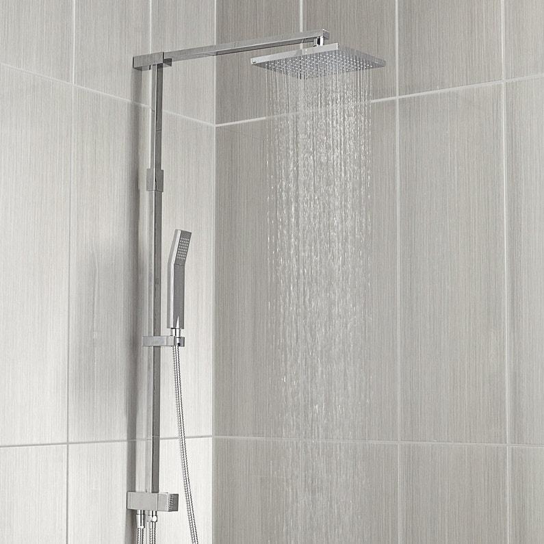 colonne de douche sans robinetterie sensea teli leroy merlin. Black Bedroom Furniture Sets. Home Design Ideas
