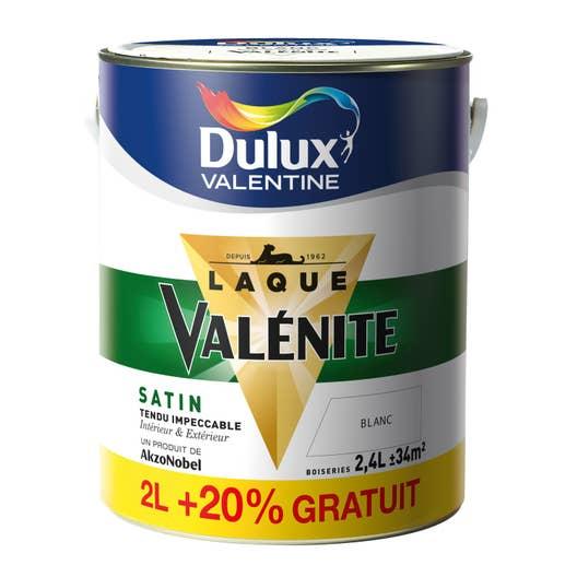 Peinture Valénite DULUX VALENTINE, blanc, 2 l + 20% gratuit | Leroy ...