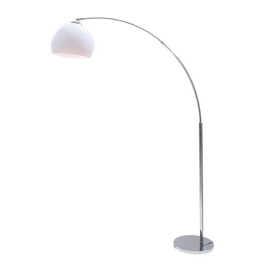 Lampadaire lampadaire 179 cm blanc leroy merlin - Lampadaire led interieur ...