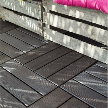 Dalle terrasse caillebotis terrasse bois terrasse for Plancher exterieur plastique
