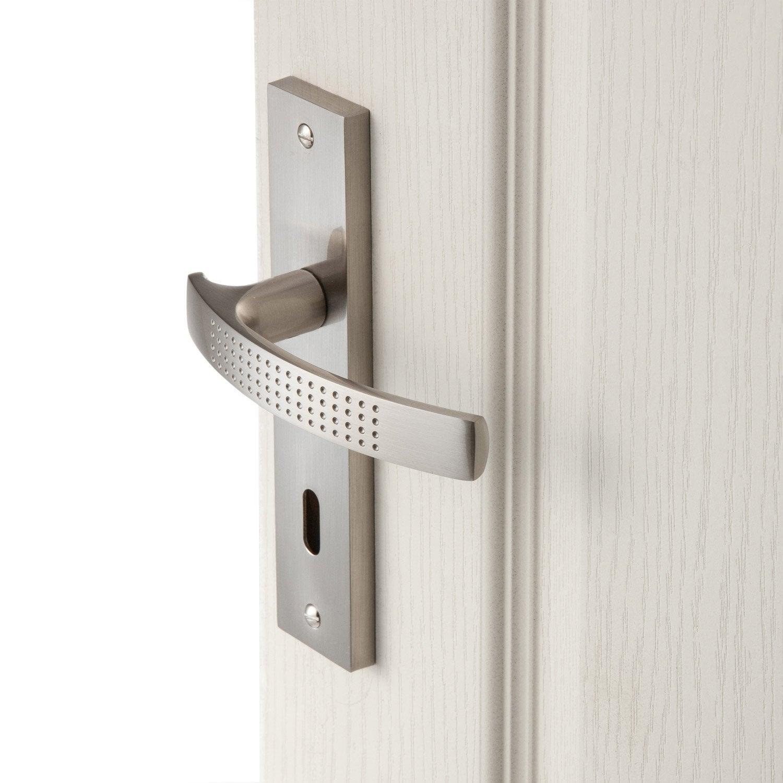 2 poign es de porte louna trou de cl inspire aluminium 165 mm leroy merlin - Poignee de porte bricorama ...