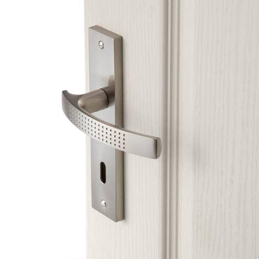 2 poignes de porte louna trou de cl inspire aluminium 165 mm