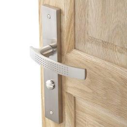 2 poignées de porte Louna condamnation / décondamnation, aluminium, 195 mm