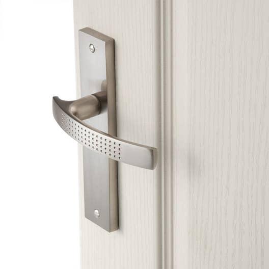 2 poignes de porte louna sans trou inspire aluminium 165 mm