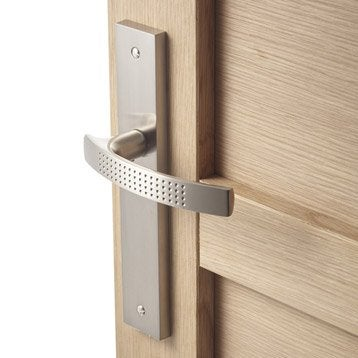 2 poignées de porte Louna sans trou INSPIRE, aluminium, 195 mm