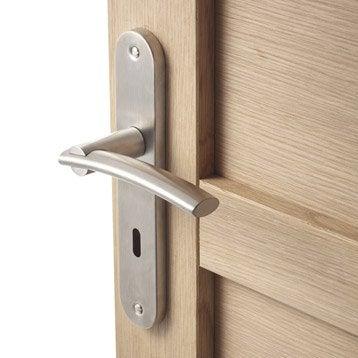 2 poignées de porte Marion trou de clé INSPIRE, acier inoxydable, 195 mm