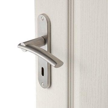 2 poignées de porte Marion trou de clé INSPIRE, acier inoxydable, 165 mm