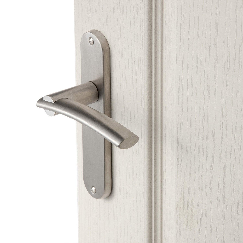 2 poign es de porte marion sans trou inspire acier inoxydable 165 mm leroy merlin. Black Bedroom Furniture Sets. Home Design Ideas