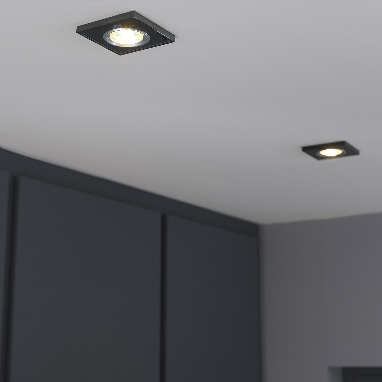 anneau pour spot encastrer rende fixe inspire noir leroy merlin. Black Bedroom Furniture Sets. Home Design Ideas
