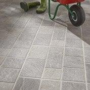 Carrelage sol gris effet pierre Pavé l.33.5 x L.33 cm