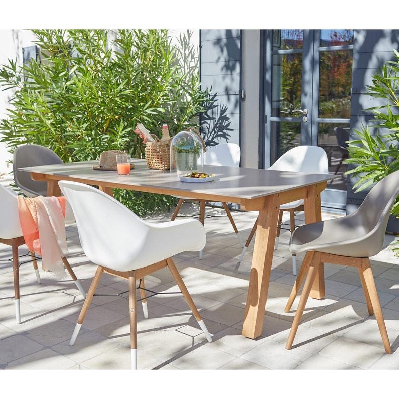 Table de jardin St tropez rectangulaire taupe personnes | Leroy Merlin