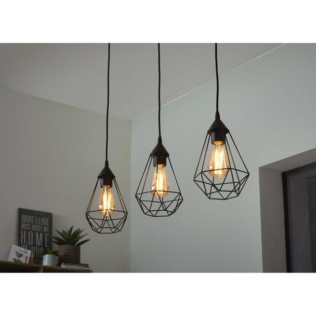 la suspension m tal noir pour un style indus leroy merlin. Black Bedroom Furniture Sets. Home Design Ideas