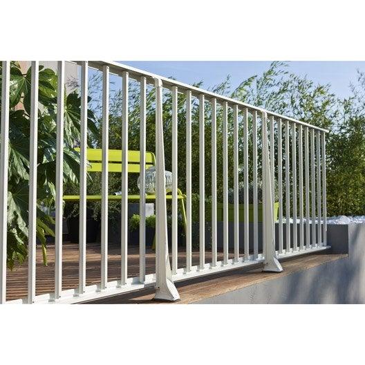 Echelle pour garde-corps KITAL aluminium blanc H.94 x l.200 cm