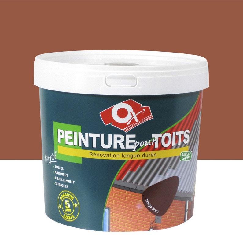 Peinture Toiture Extérieur Acrytol Oxytol Ocre Rouge 10 L