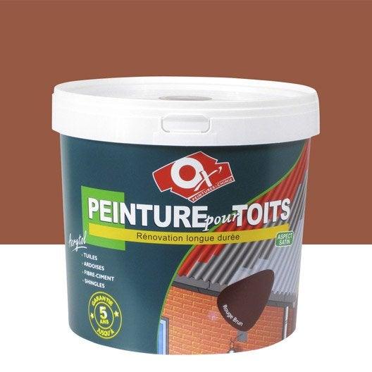 Peinture toiture ext rieur acrytol oxytol ocre rouge 10 for Peinture 100 acrylique exterieur