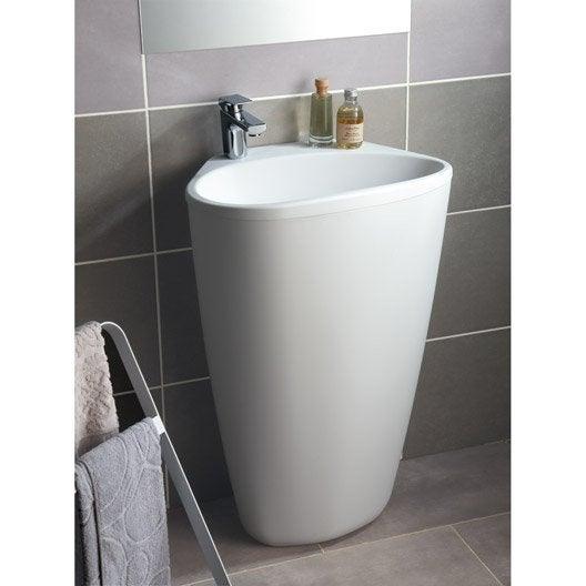 Lavabo meuble de salle de bains au meilleur prix leroy for Prix lavabo salle de bain