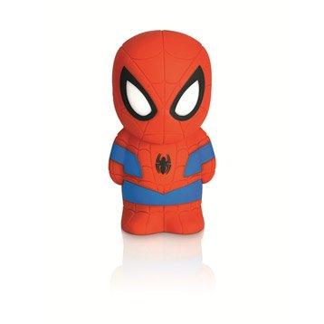 Objet lumineux, led intégrée Spiderman PHILIPS, synthétique multicolore, 3 W