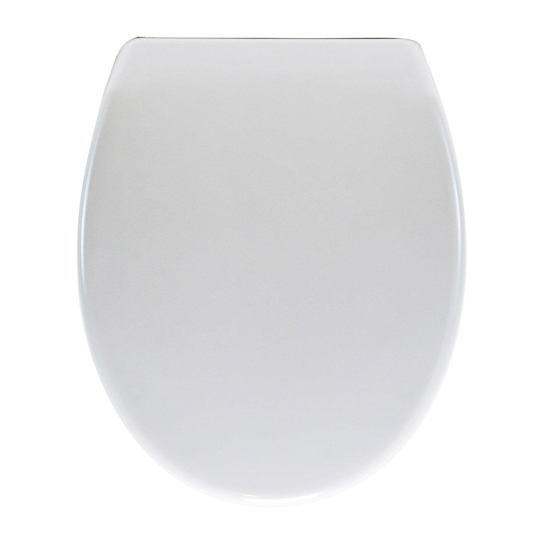 abattant frein de chute d clipsable blanc plastique thermodur sensea klik leroy merlin. Black Bedroom Furniture Sets. Home Design Ideas