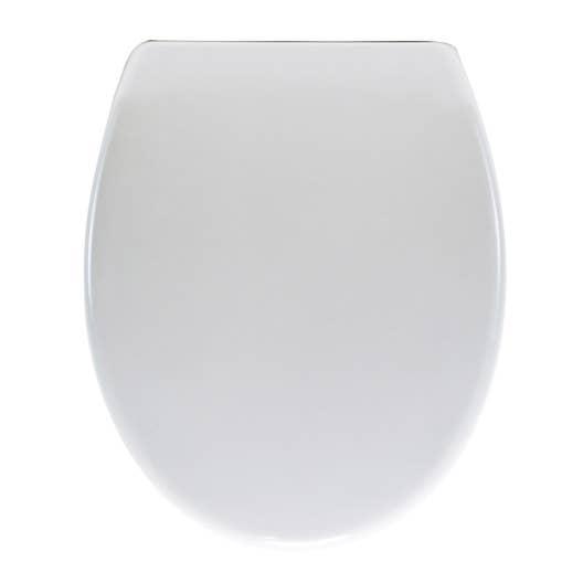 Abattant frein de chute déclipsable blanc plastique thermodur ...