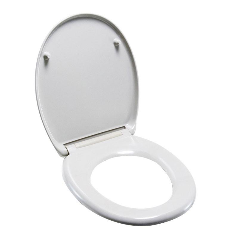 Abattant Frein De Chute Déclipsable Blanc Plastique Thermodur Sensea Klik