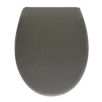 Abattant frein de chute déclipsable gris plastique thermodur, SENSEA Klik