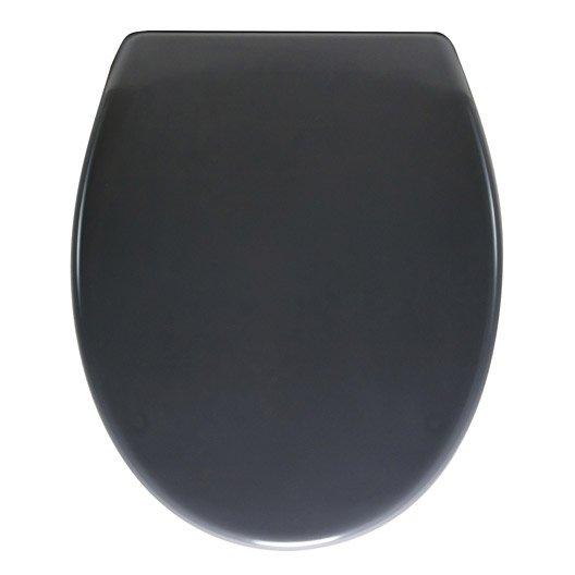 abattant frein de chute déclipsable gris plastique thermodur