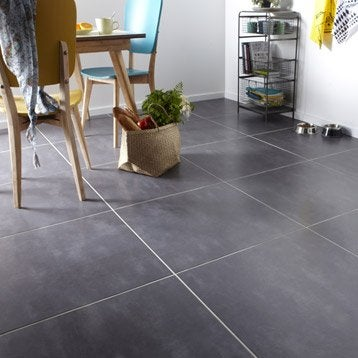 Carrelage sol anthracite Welcome l.60.4 x L.60.4 cm
