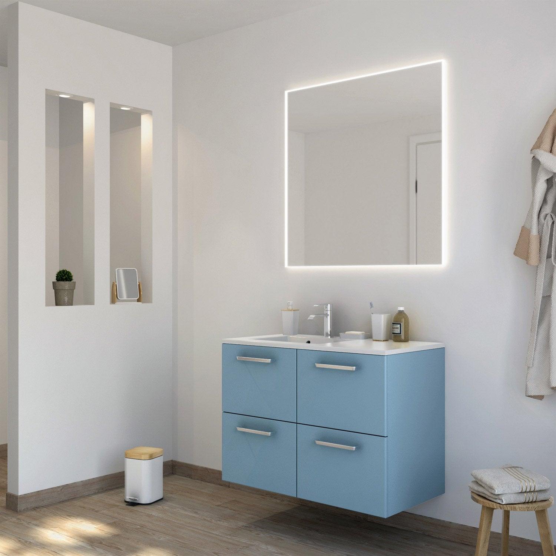 Meuble de salle de bains de 80 à 99, bleu, Neo line   Leroy Merlin