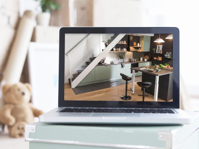 meuble de cuisine cuisine am nag e cuisine quip e en kit leroy merlin. Black Bedroom Furniture Sets. Home Design Ideas