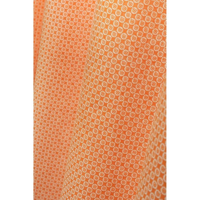 Rideau Tamisant Sole Orange Tangerine N 3 L 140 X H 260 Cm