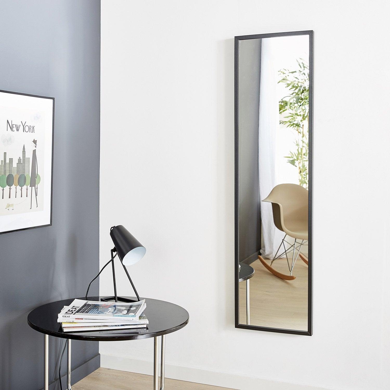 Miroir Milo INSPIRE, noir, l.30 x H.120 cm