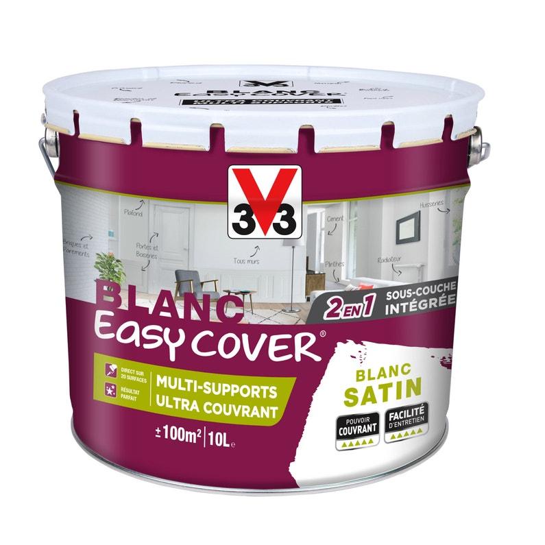 Peinture V33 Multisupport Easy Cover Blanc Satin 10 L