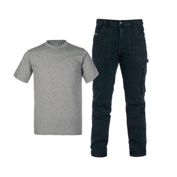 97ca509d22d Lot jean de travail et tee-shirt KAPRIOL taille L