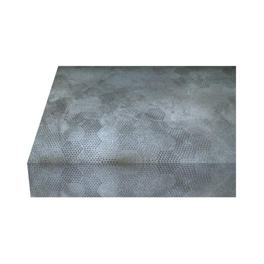 Plan de travail stratifi beton hexago mat x cm - Plan de travail cuisine largeur 100 cm ...