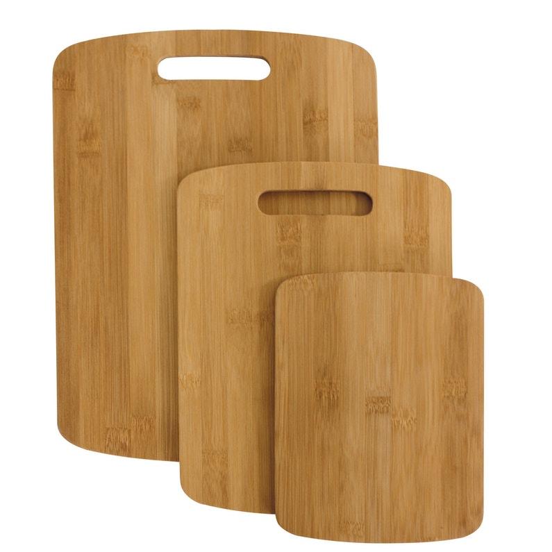 Lot De 3 Planches à Découper En Bambou Naturel